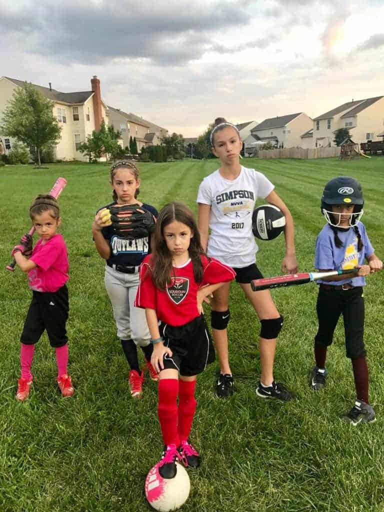 I'm a busy sports mom and on Saturdays we play like a girl.