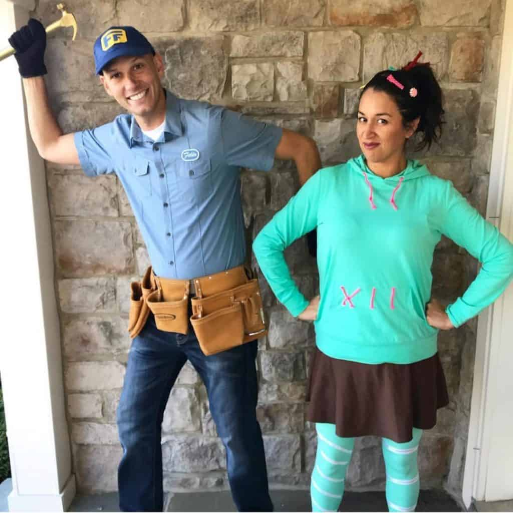 Vanellope Von Schweetz and Fix It Felix costumes