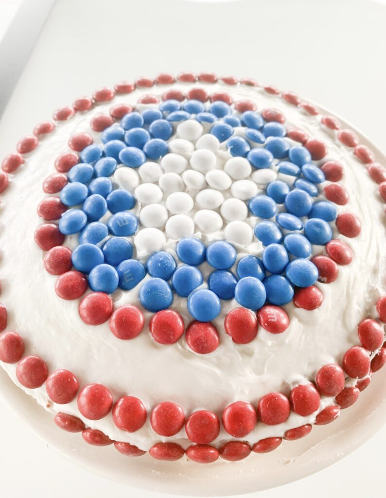 4th of July Captain America Cake