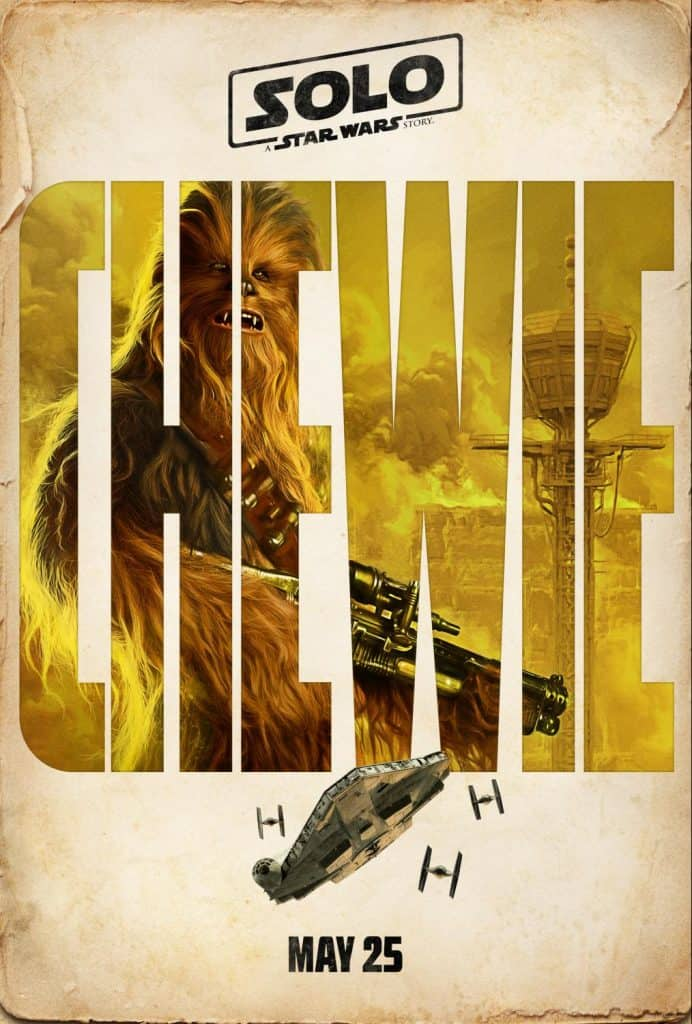 Watch the new Solo: A Star Wars Story trailer starring Chewbacca! Also check out Chewie's Solo Movie poster.