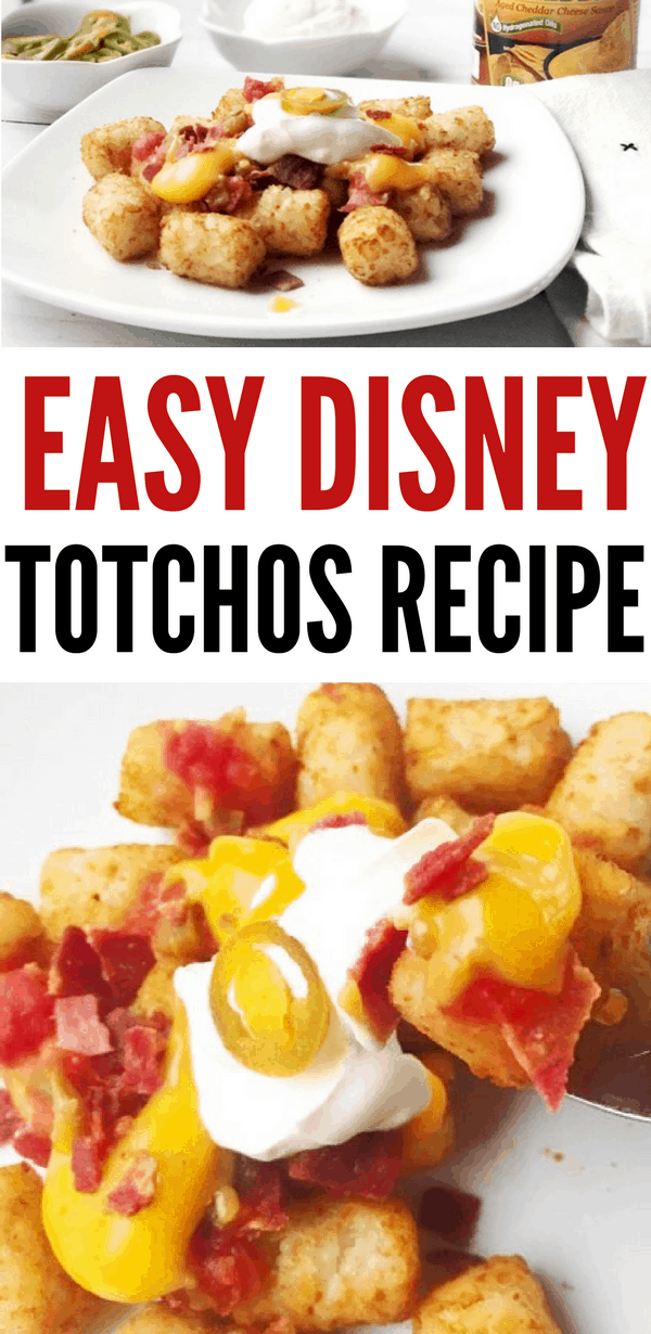 Make this easy Disney Totchos Recipe at home! I originally found it at Disney Social Media Moms in Disneyland, and now I found out they have loaded tater tots at Magic Kingdom Park, too!