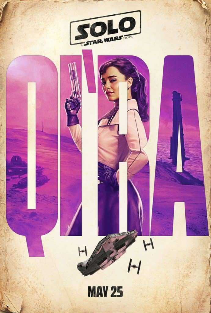 Watch Emilia Clarke as Qi'ra in the Solo: A Star Wars Story trailer.
