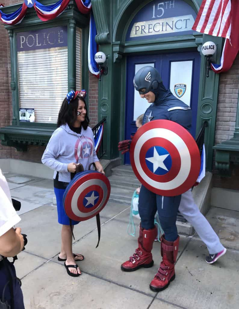 You can meet Captain America at Disney California Adventure.