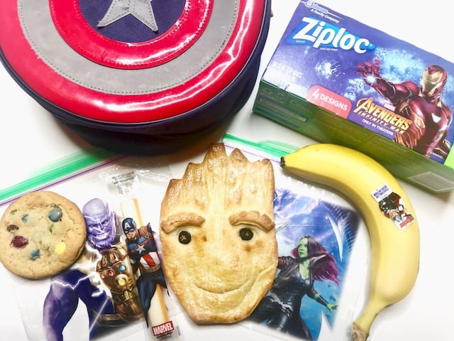 Teen Groot Bread and Avengers lunch box
