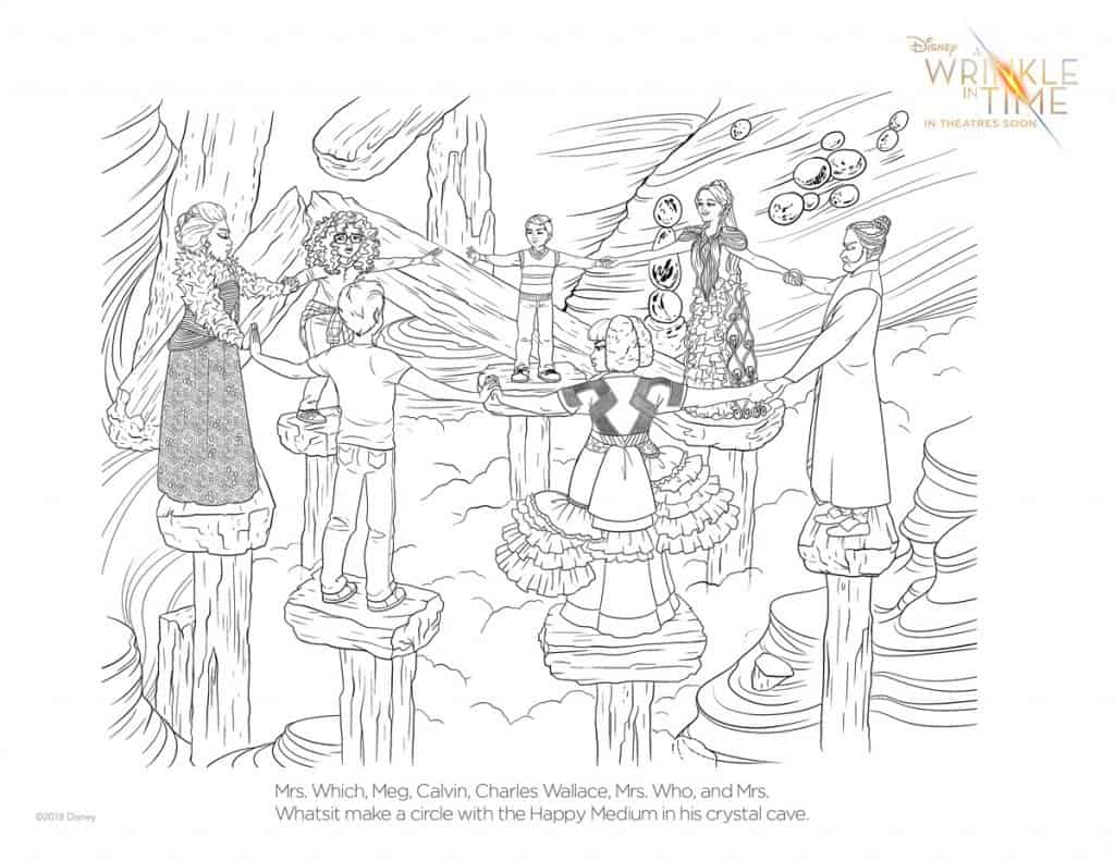 click here to print a wrinkle in time coloring page