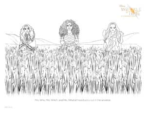 A Wrinkle in Time Movie Activity Sheets and Coloring Pages