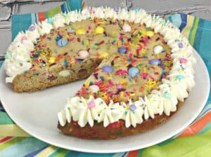 Cadbury Mini Eggs Easter Cookie Cake Recipe