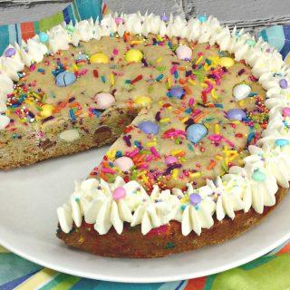 Easter cookie cake plus Cadbury Mini Eggs equals perfection.