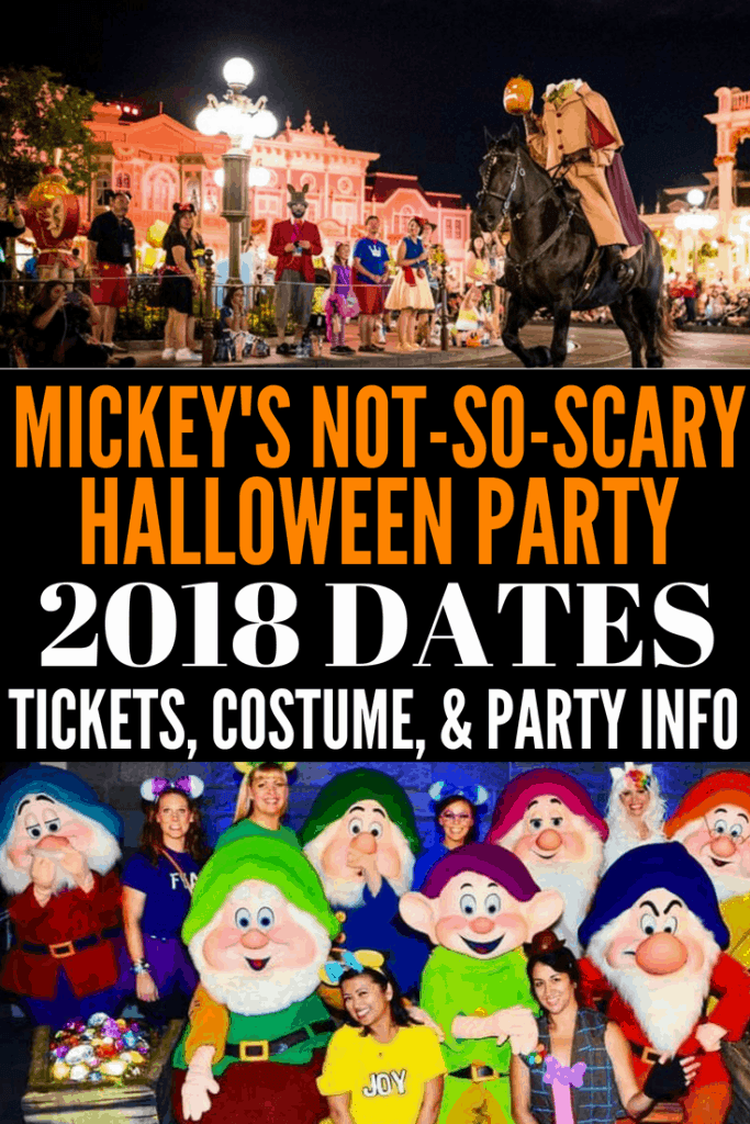 2018 Mickey's Not So Scary Halloween Party dates, tickets, and pricing. Also what you can expect at the party like Hocus Pocus, HalloWishes fireworks, and Mickey's Not So Scary Halloween Party Costume ideas and costume guidelines.