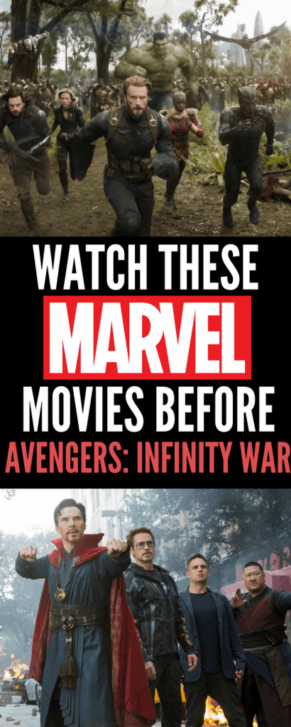 You want to watch these Marvel movies in order before Avengers: Infinity War is in theaters April 27th to get caught up. Check out the Avengers: Infinity War trailer and these lists for the new Marvel fan. My favorite characters are the Avengers and Bucky!