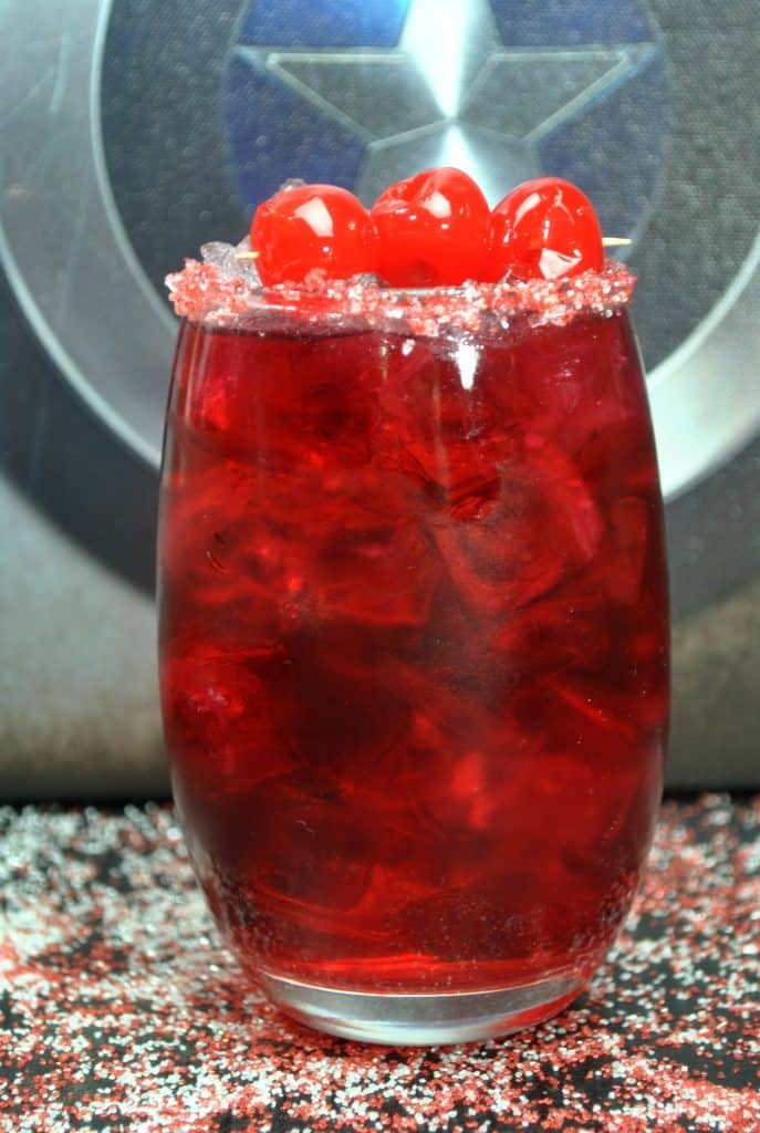 Make this Captain America themed punch for your next Avengers party!