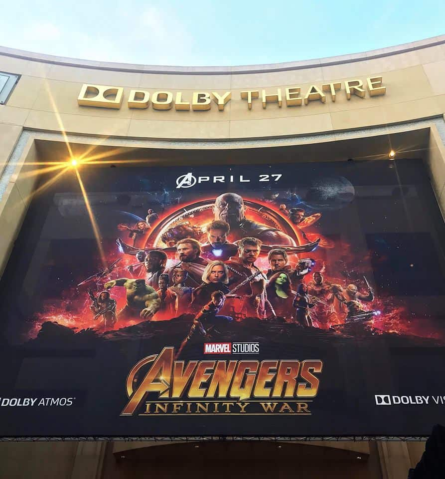 Avengers Infinity War Premiere at the Dolby - dream come true!