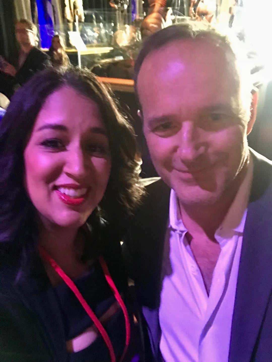 Me and my bae Clark Gregg at the Avengers Infinity War Premiere