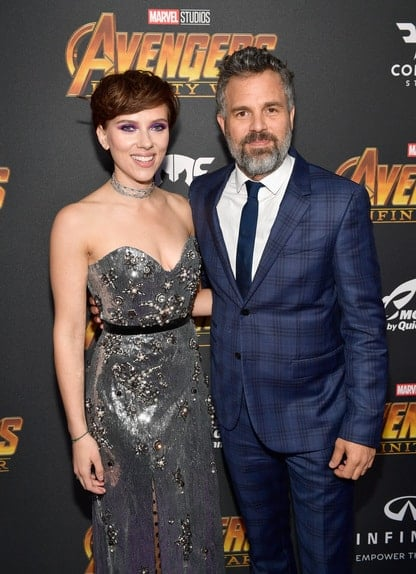 Black Widow and Hulk at the Avengers Infinity War Premiere in Los Angeles