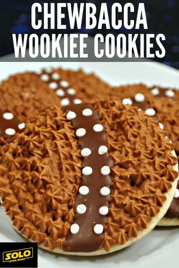 Plan your next Star Wars party and make these Chewbacca Wookiee Cookies to celebrate Solo: A Star Wars Story! Step-by-step instructions for Chewbacca Sugar Cookies! #StarWars #HanSolo #Chewbacca