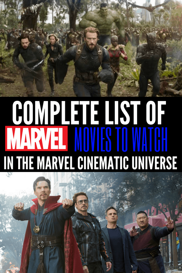 Watch these Marvel Movies in order to get caught up in the Marvel Cinematic Universe! Marvel movie lists for every level Avengers fan!
