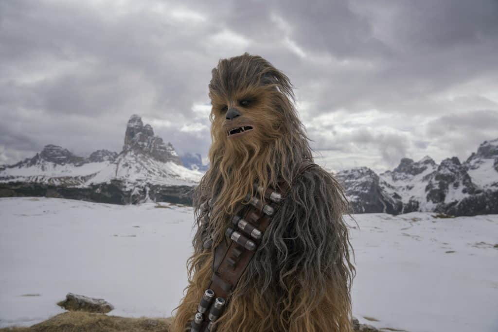 Joonas Suotamo plays a younger Chewbacca in Solo: A Star Wars Story.