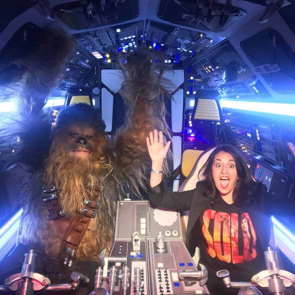 Flying on the Millennium Falcon with Chewbacca