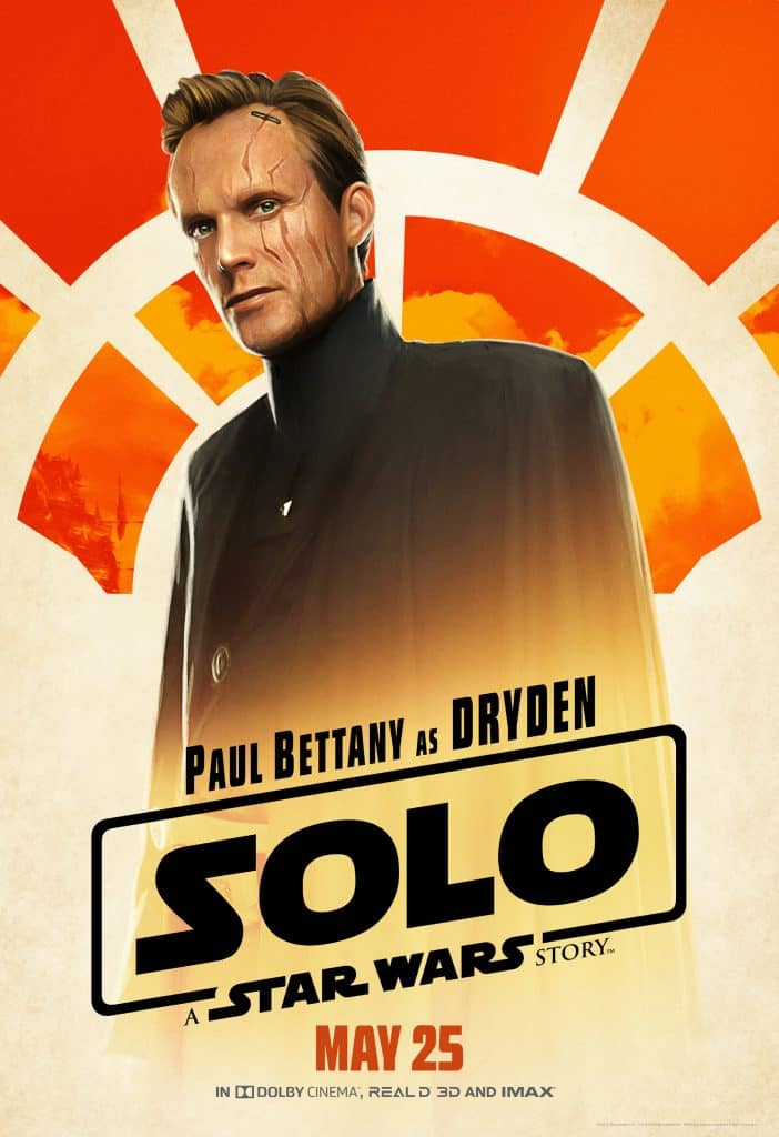 Paul Bettany in Han Solo as Dryden Vos.