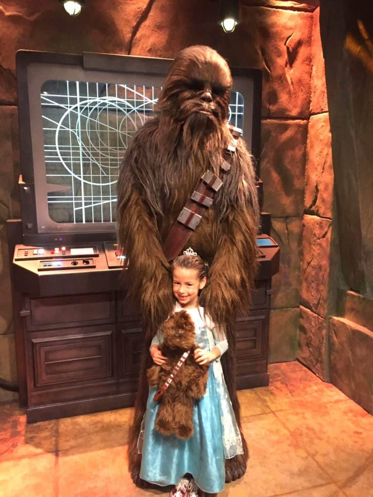 Meet Chewbacca at Disneyland and have him roar for change with you!