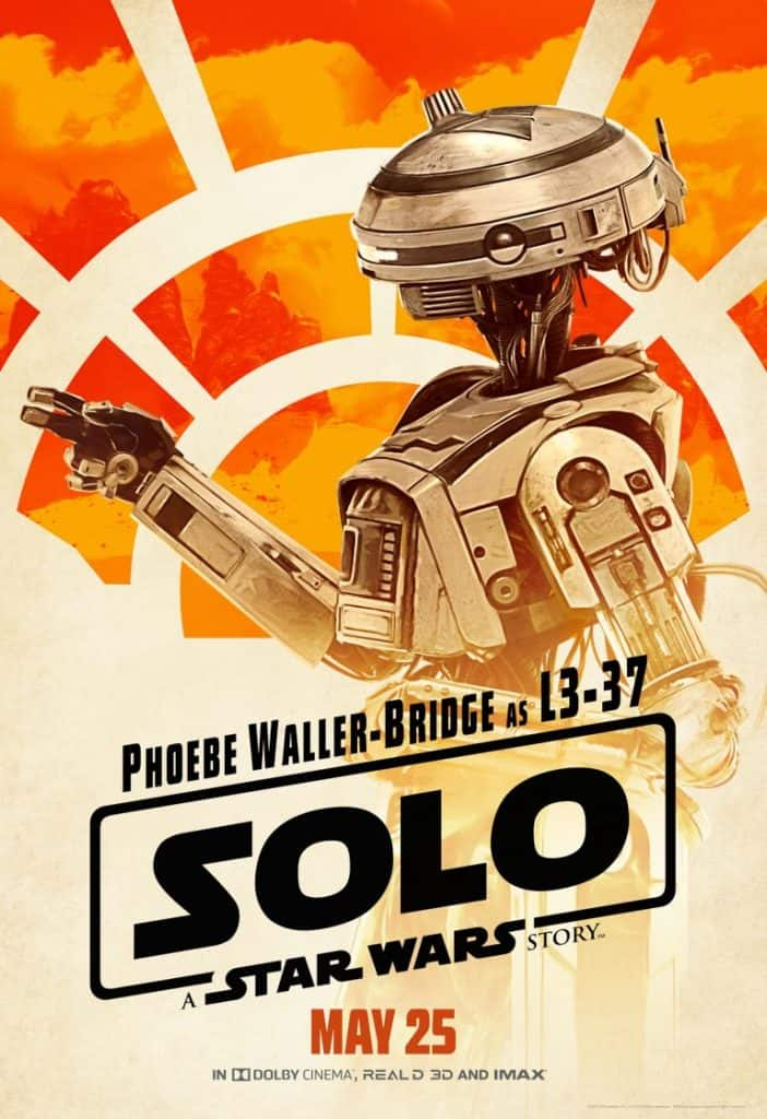 L3-37 is Solo's sassy droid.
