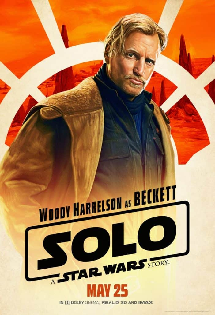 Woody Harrelson in Han Solo is Tobias Beckett, a thief.