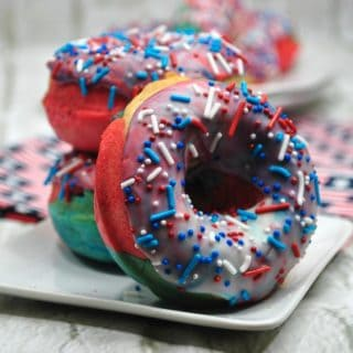 Celebrate National Donut Day by making your own 4th of July or Captain America Donuts!