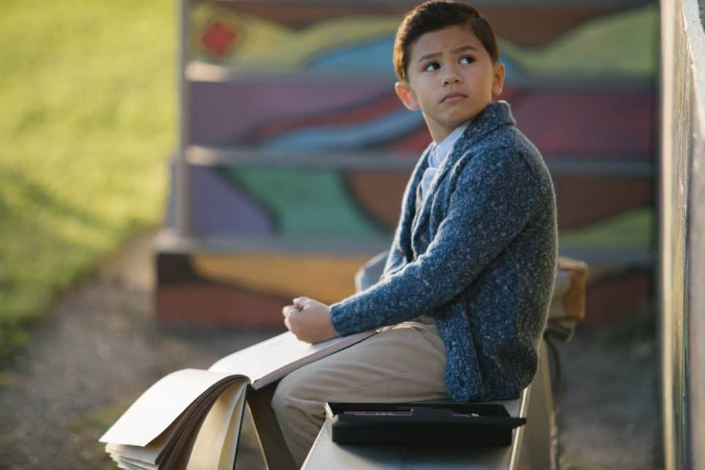 Deric McCabe as Charles Wallace in A Wrinkle in Time