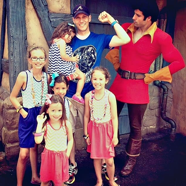 A Disney Father's Day surprise included a visit to Gaston!