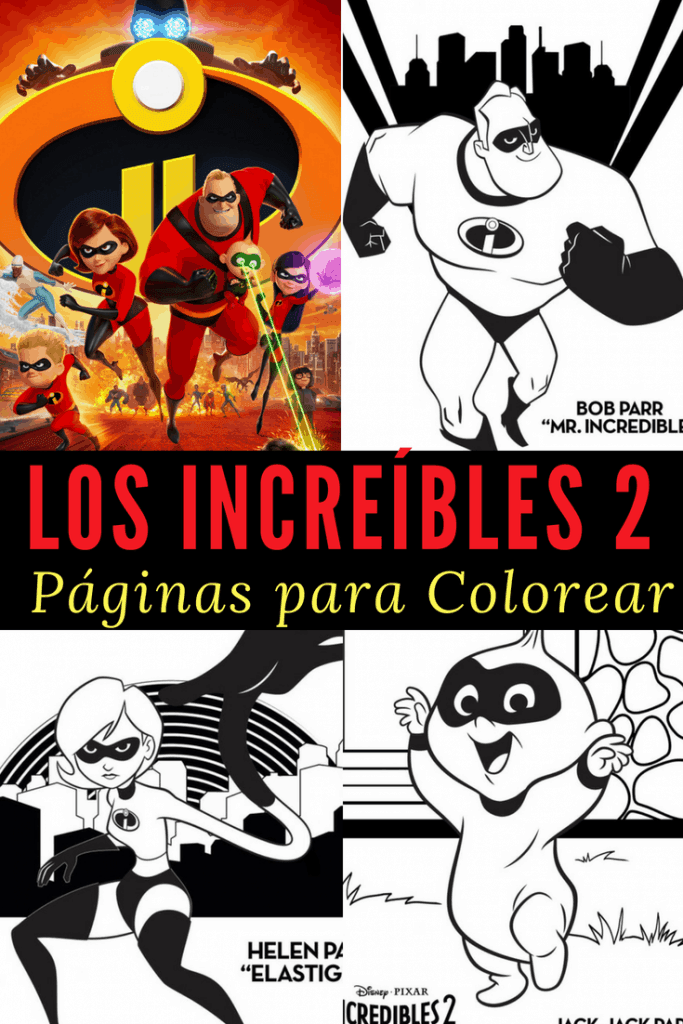 Páginas para colorear de Los Increibles 2. Son gratis y puedes imprimir las paginas de tus personajes favoritos de Los Increibles. Print off these coloring pages from The Incredibles 2!