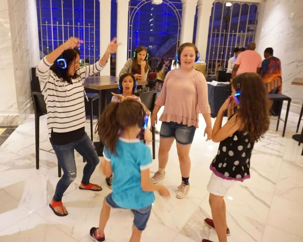 Dance your heart out at the Silent Disco in the Belvedere Lobby at the Gaylord National Resort & Convention Center