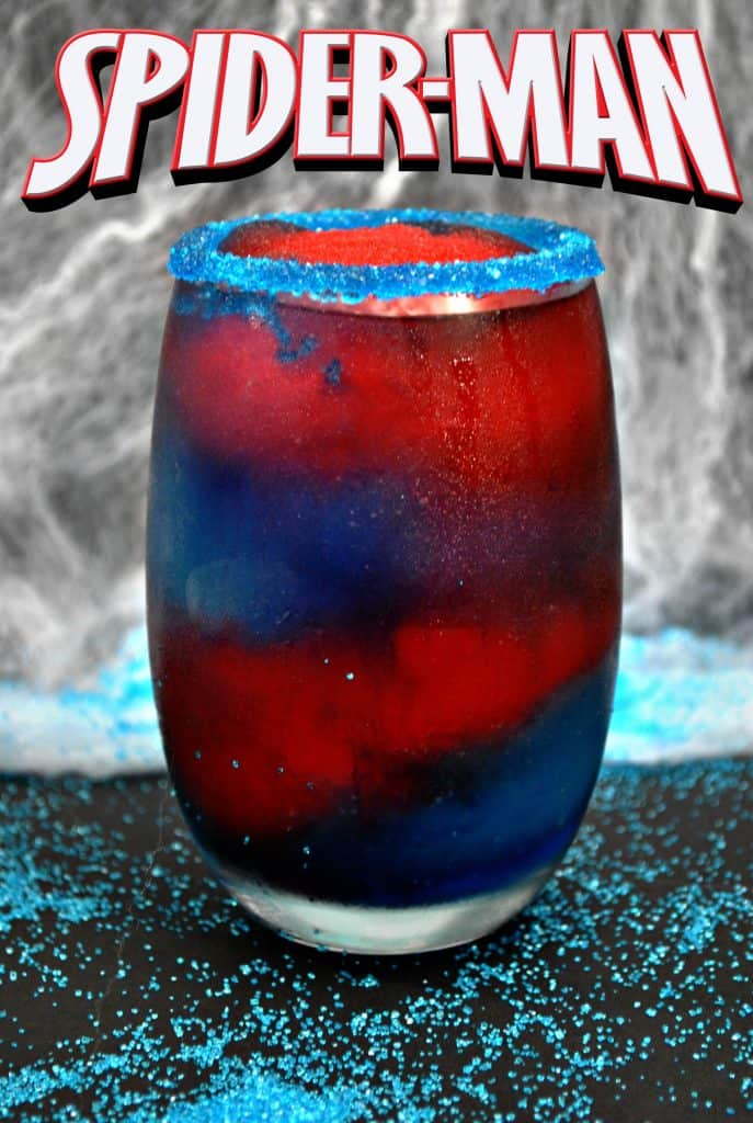 Spiderman Drink Recipe - Frozen nonalcoholic drink