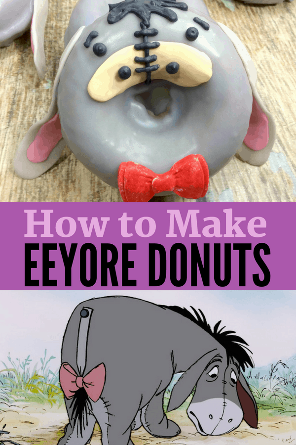 How to make Eeyore Donuts from Winnie the Pooh! Check out this easy recipe in celebration of Disney's Christopher Robin Movie. Eeyore is one of my favorite Winnie the Pooh characters and these are prefect for parties!