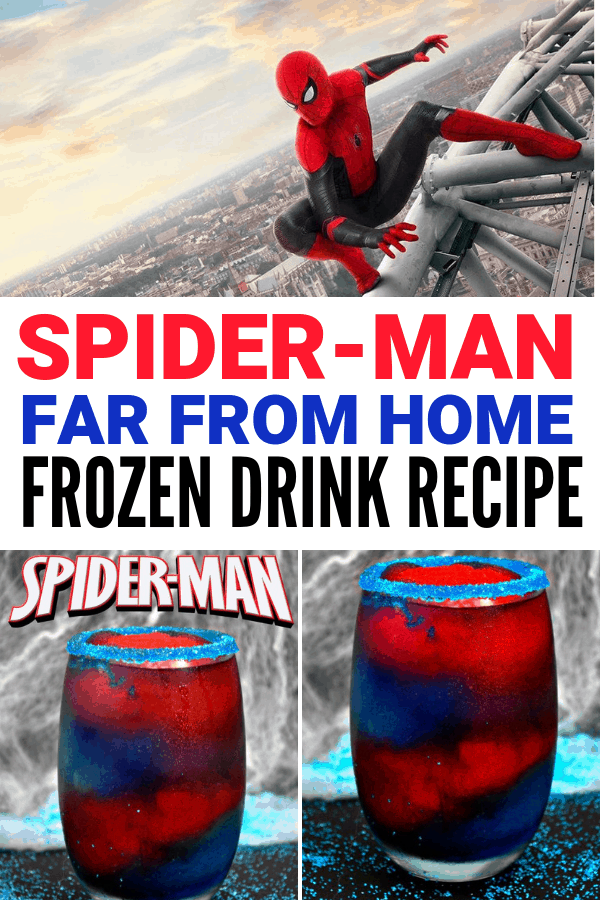 Spider-Man Far From Home Frozen Drink Recipe