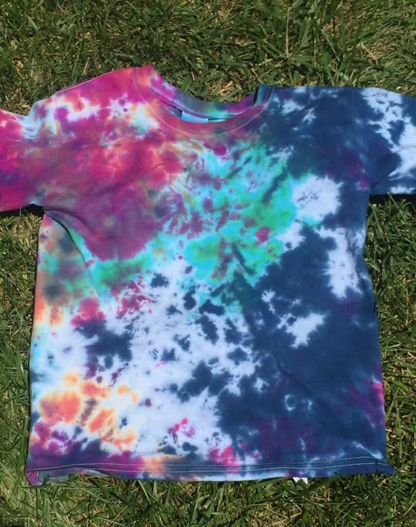 Crumple Pattern Tie Dye Shirt Instructions