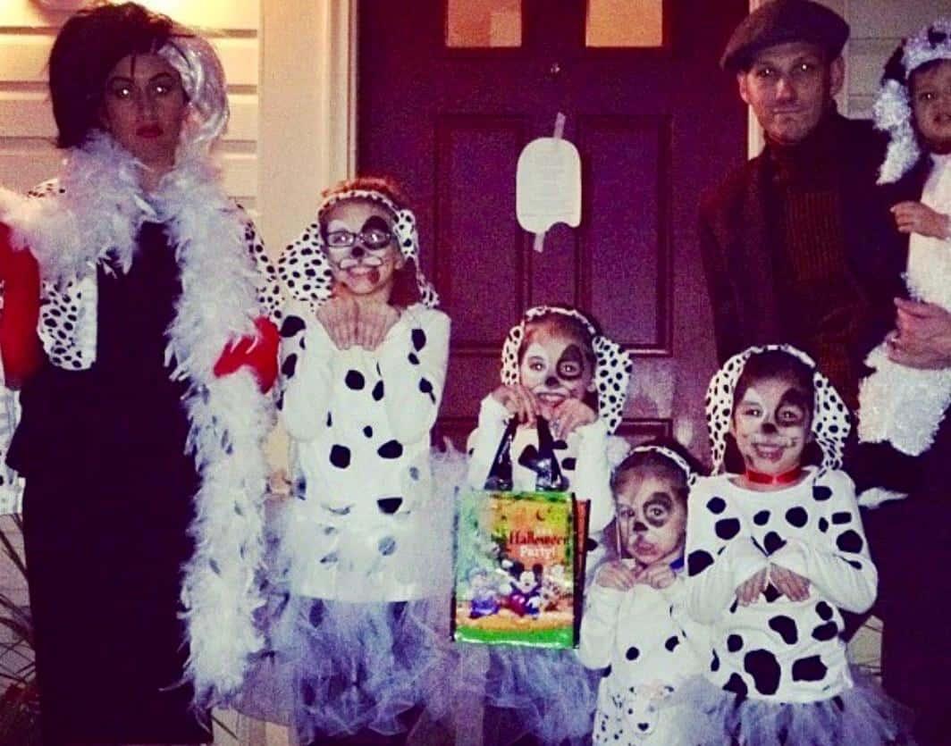 DIY Family 101 Dalmatians Costume including Cruella De Vil - Lola ...