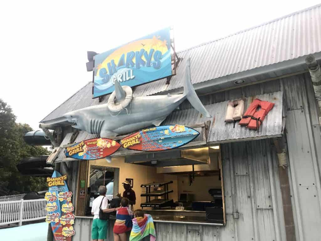 Sharky's Grill is a place to grab burgers in Duke's Lagoon at Dutch Wonderland.