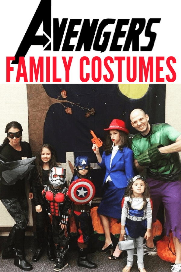 DIY and store bought Avengers Family Costumes. Here's how you can put together a quick group or family Avengers Halloween costume with minor purchases. Now find your favorite Avengers costumes from Avengers: Infinity War.