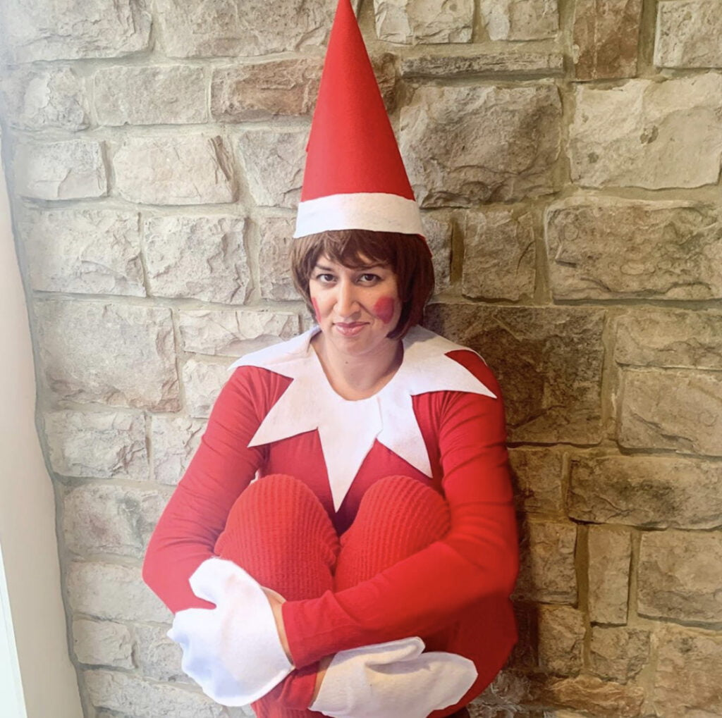 DIY Elf on the Shelf Costume for Moms