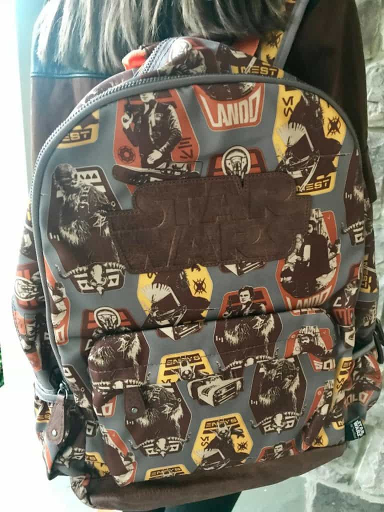 Solo A Star Wars Story Merchandise and Backpack