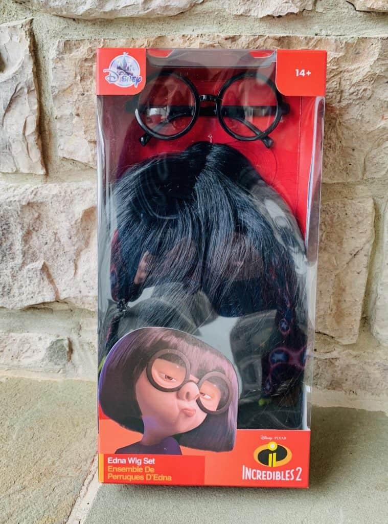 Edna Mode wig and glasses