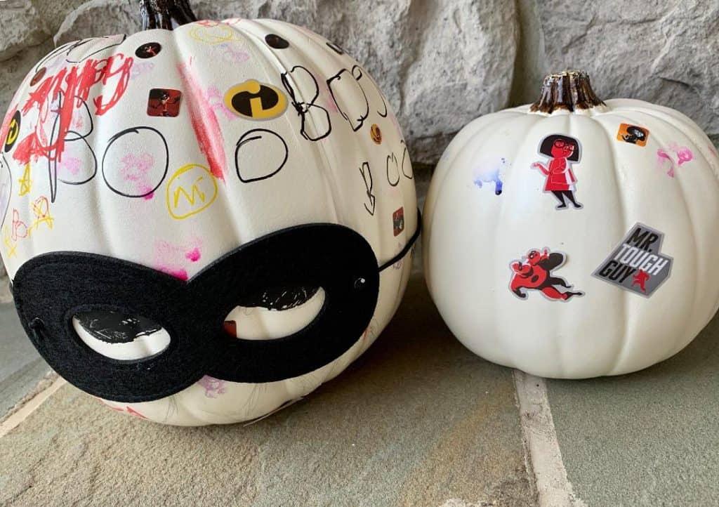 Incredibles 2 pumpkins
