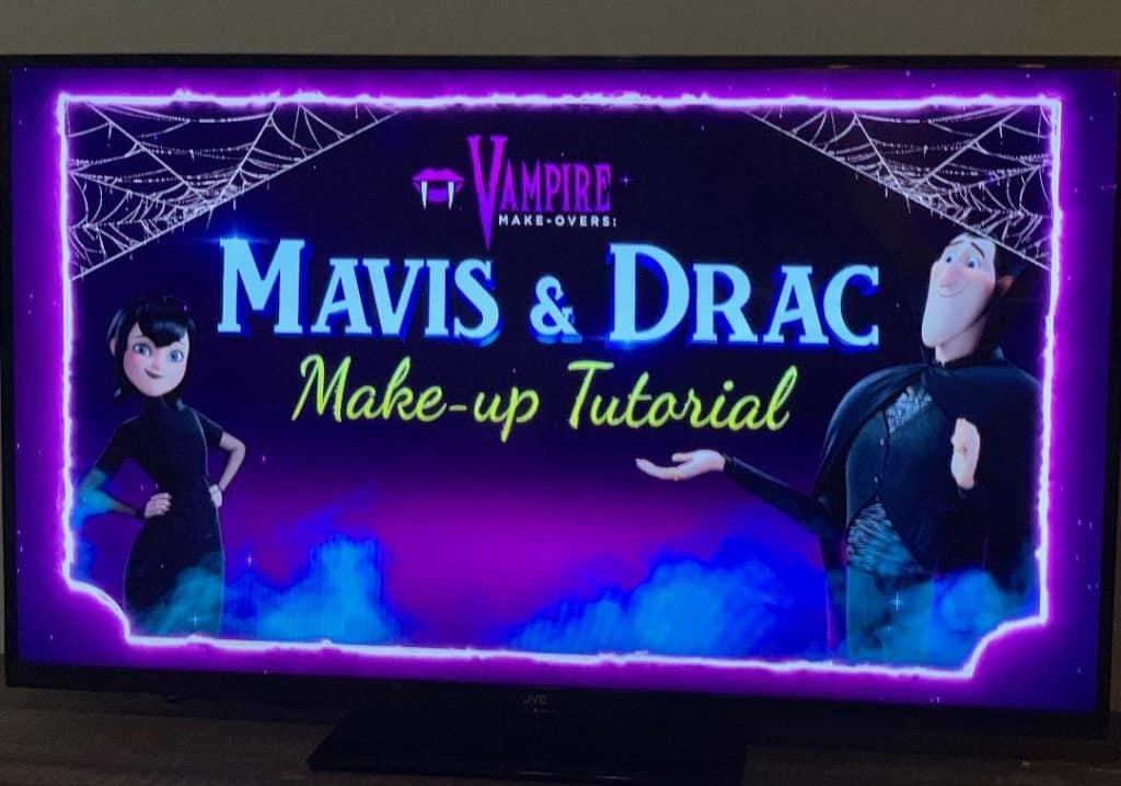 The Hotel Transylvania 3 DVD includes a Mavis and Drac Makeup Tutorial