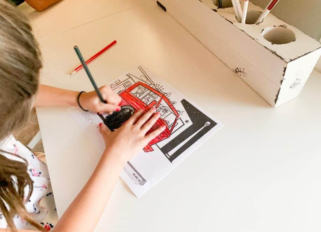 Print coloring pages and activities for fire prevention week 2018.