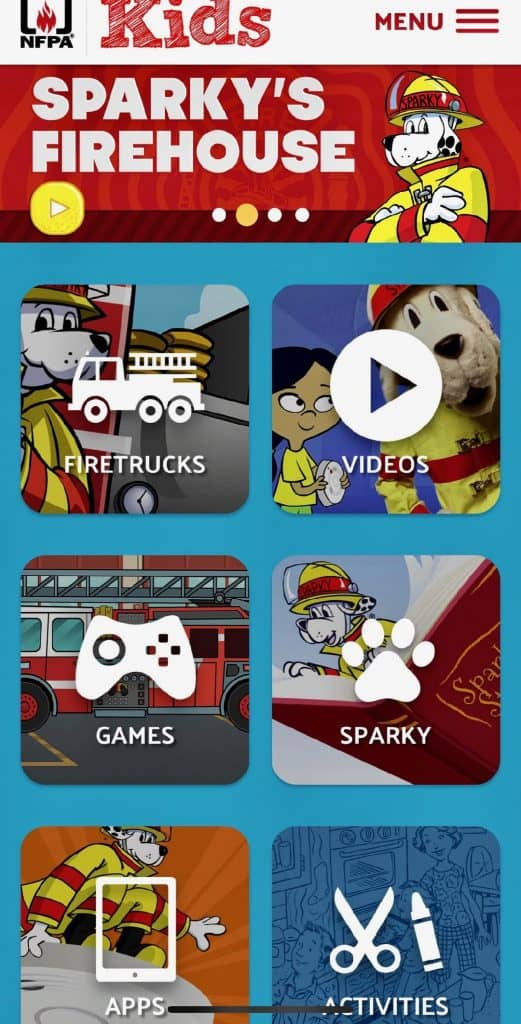 It's Fire Prevention Week 2018, and Sparky apps can teach your kids about fire safety in an enjoyable way.