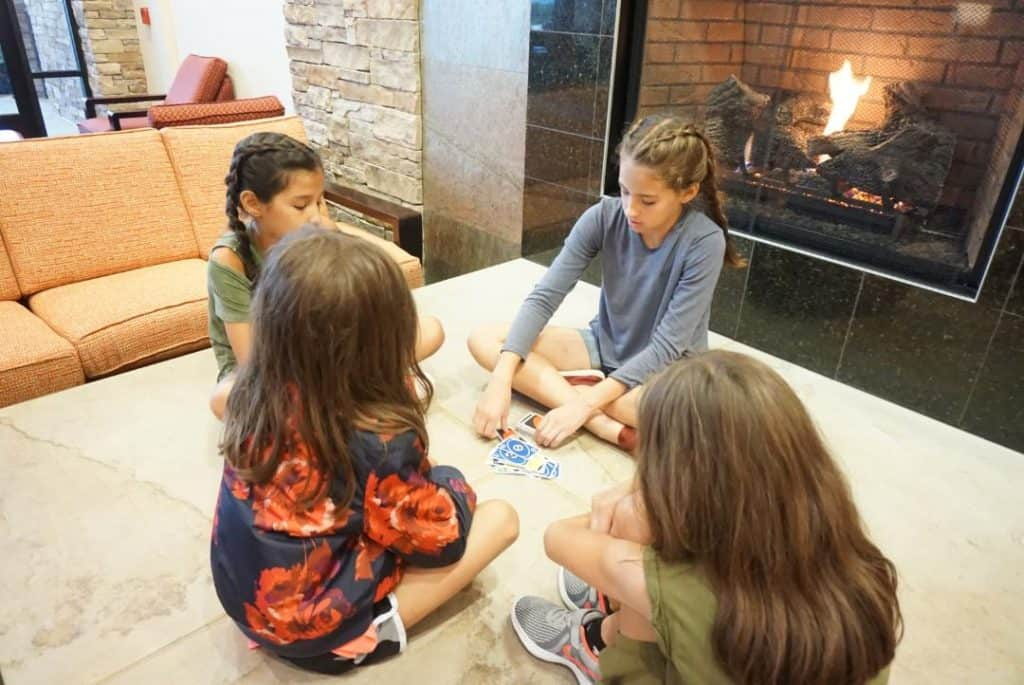 Play games by the fire at Canaan Valley Resort