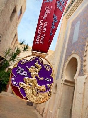 Jasmine on the 2019 Disney Fairy Tale Challenge medal