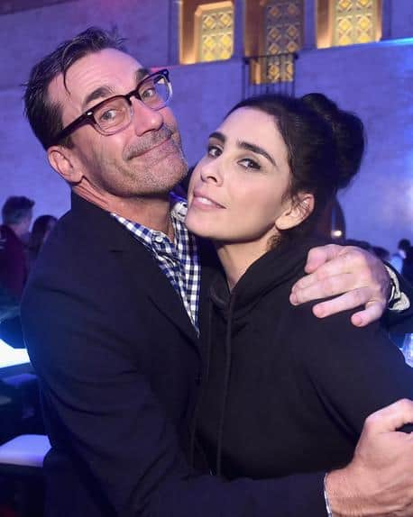 Jon Hamm and Sarah Silverman at Ralph Breaks the Internet Premiere