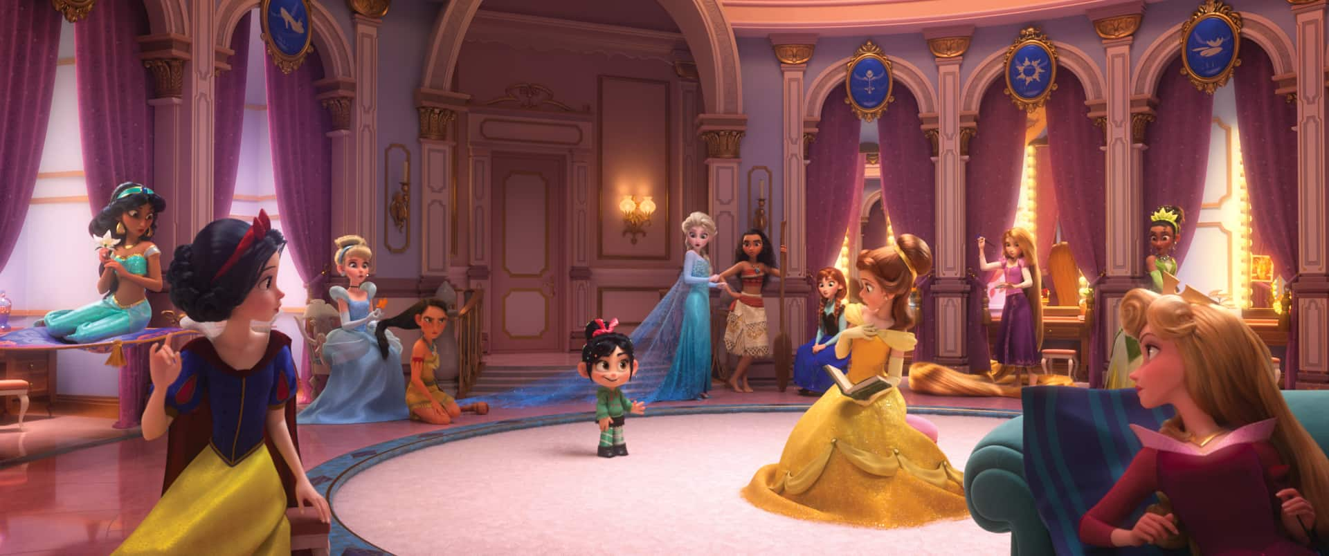 Voice of Snow White, Pamela Ribon, and the princess scene in Ralph Breaks the Internet