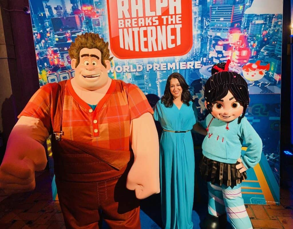Ralph and Vanellope meet and greet from Ralph Breaks the Internet